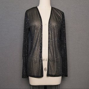 Accessories - Sheer silvery black coverup